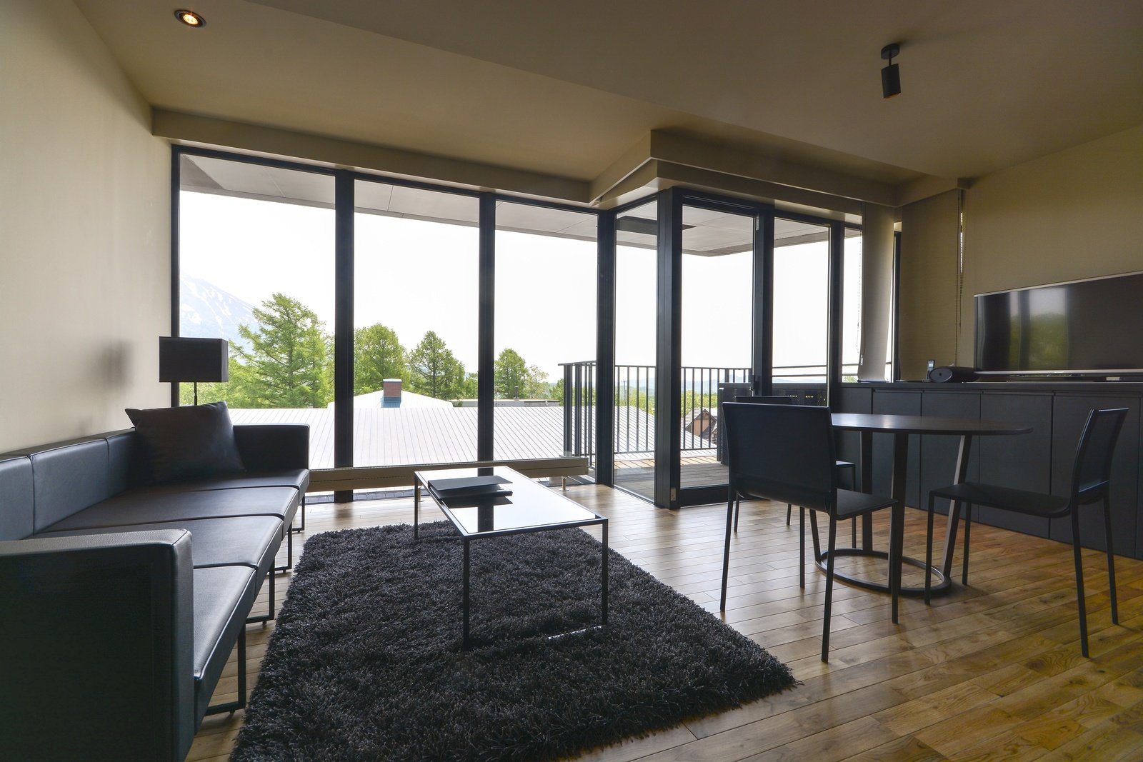 Muse niseko 1 bedroom apartment 302 living room large