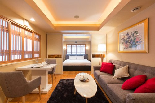 A suite room at M Hotel in Niseko.