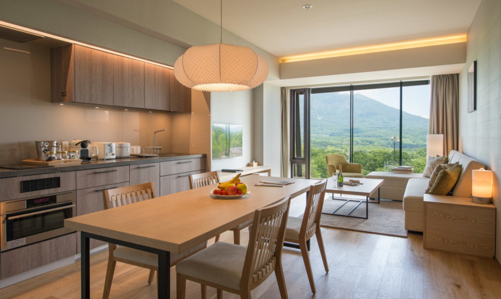 A 2 bedroom apartment with Yotei view at AYA Niseko.