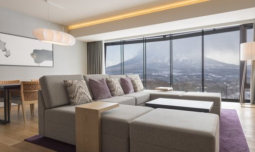 A 3 bedroom apartment with Yotei view in AYA Niseko.