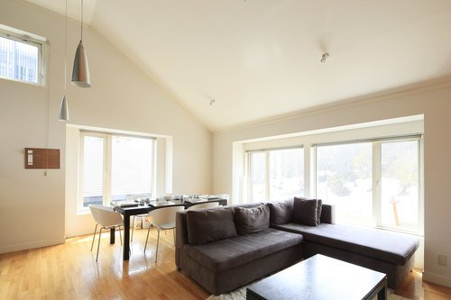 Living room of a 2 bedroom apartment at First Tracks, Niseko.
