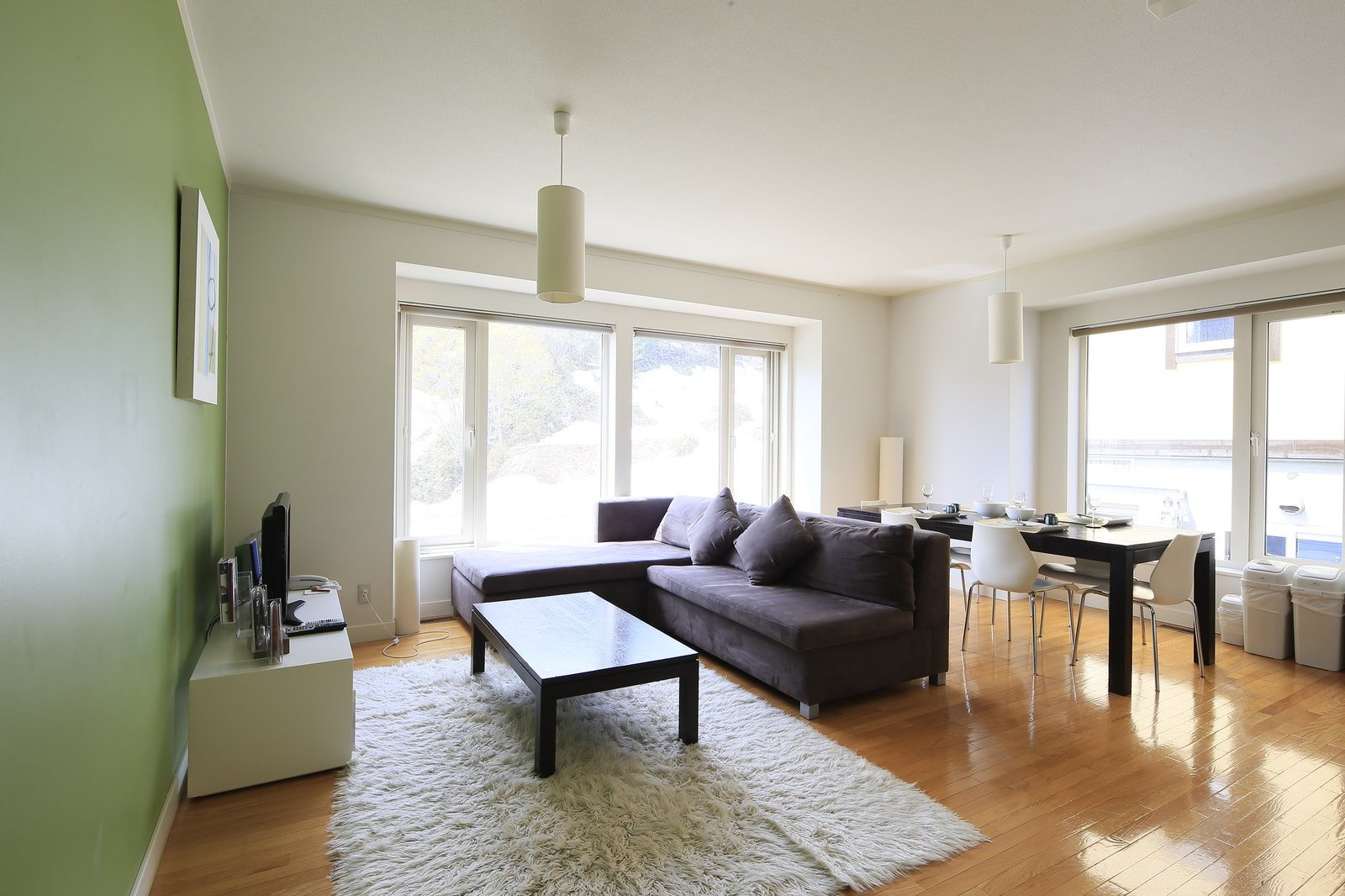 Living room of a 3 bedroom apartment at First Tracks, Niseko.