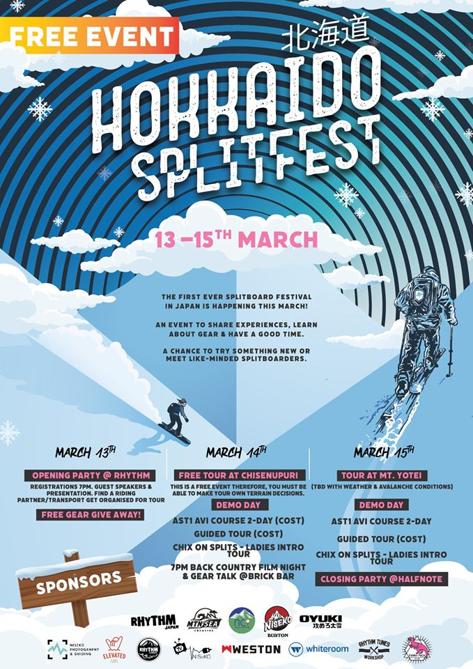 The Inaugural Hokkaido Splitfest is happening in Niseko from the 13th to the 15th of March and is Japan's first ever split boarding festival.