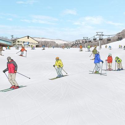 New ski lift development in niseko annupuri