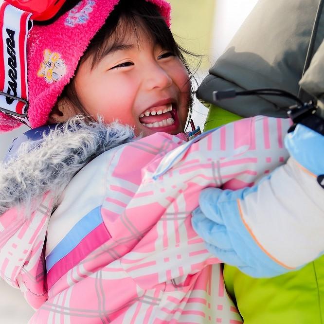 Spring kids skiing 3